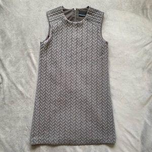 Cynthia Rowley gray braided mini sweater dress